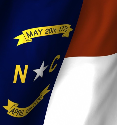 north carolina flag close up