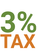 three percent tax