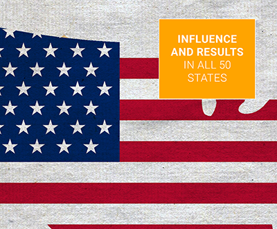 Influence and results in all 50 states