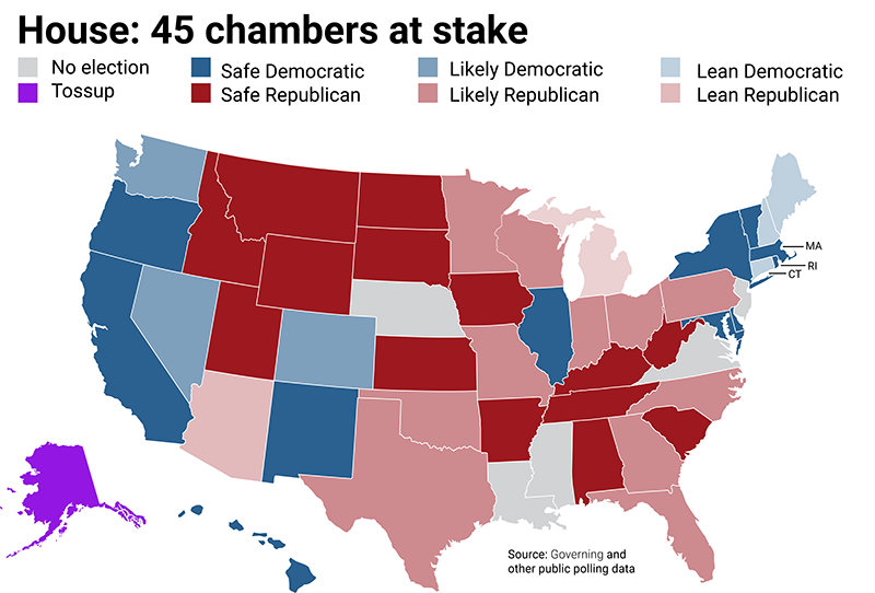 Republican Democratic State Map.Mcguirewoods Consulting 2018 U S State Elections Interactive Roundup