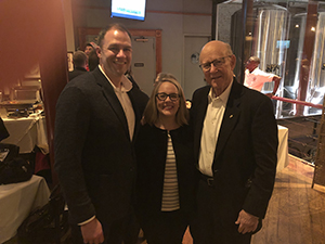 Joel Leftwich, Molly and Senator Roberts.